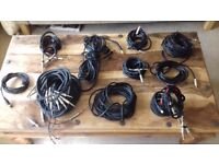 Pro Audio Wires TRS, PHONO, MIDI, LOOM Instrument Cables