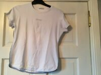 USA Pro White Gym T-shirt Workout Top, Size M