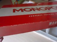 1972 Monopoly board game, boxed, cards still in wrappers