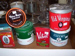 COLLECTIBLE TOBACCO AND KITCHEN TINS