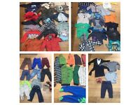 10 KG / 71 Items Boys Clothes Bundle from 9 months to 3Yrs. Mostly Gap, Next, H&M, John Lewis