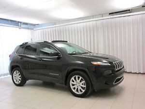 2016 Jeep Cherokee LIMITED 4X4 SUV W/ LEATHER INTERIOR, POWER OP