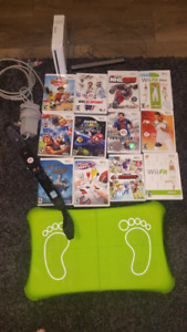 Wii and Wii fit  with 12 games