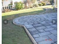 patio slabs, £12 per m2