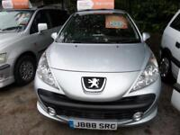 Peugeot 207 Verve 2009 3dr Petrol Manual In Metallic Silver Economical Engine
