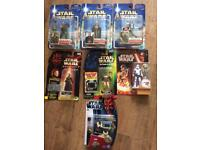 Star Wars figures joblot all new and carded backs