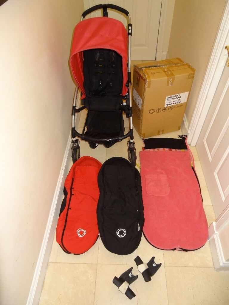 Used Bugaboo Bee Pram / Stroller & BRAND NEW BOXED Bugaboo Bee chair & 2 baby cocoons