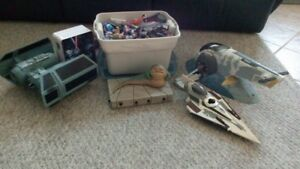 Collection of Star Wars, Spider-man, Batman and Pokemon toys