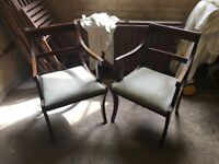 Chairs, chest of draws, foot stools, picture frame
