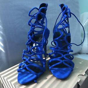 Zara strappy laced up sandals heels wedding prom