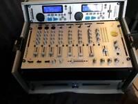 Kam twin CD mixers in case