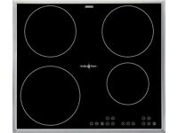 Zanussi ZIT64X Induction Hob - Black with Stainless Steel Frame