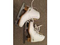 SFR white figure ice skates size 1