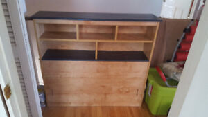 Twin Bed HeadBoard - Could be used as bookshelf or decoration