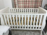 John Lewis Cot Bed- Mattress Also Available