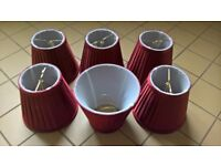 Brand new ruby red lamp shades