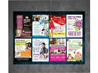 5000 A5 Flyers - Double Sided Full Colour inc Design