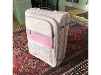 *Preloved* Pink Playboy Medium Suitcase - Lockable, Many Compartments