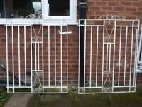 Beautiful White Heavy Metal Gates