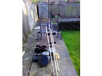 modified weight bench inc 3 bars tricep bar weights numerous sizes THIS ITEM would be open to offers