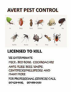 Bed bugs, roaches, mice, ants etc 647 898 2430, 647 624 4496