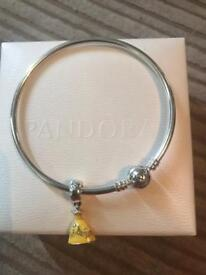 Pandora Bracelet with exclusive disney belle charm