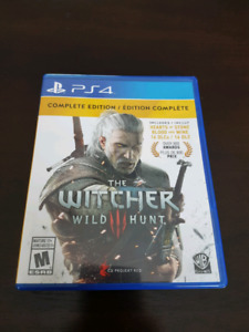 Like New The Witcher 3 Wild Hunt PS4