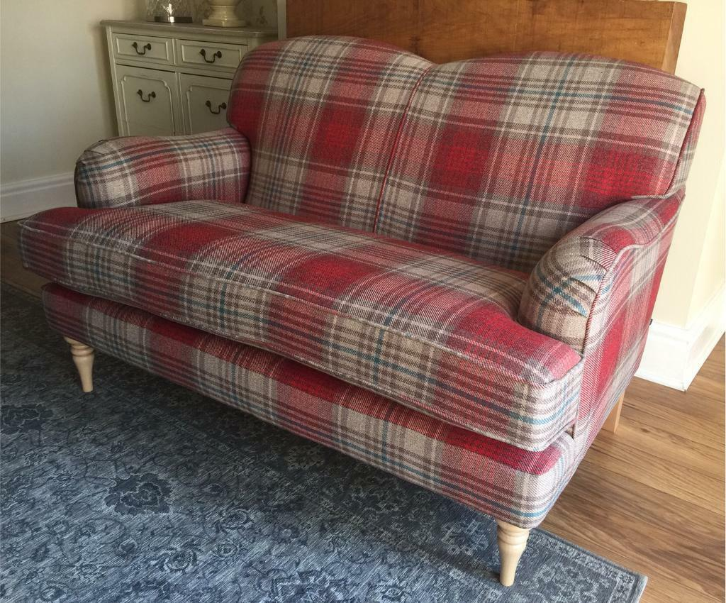 Brand New Next Red Tartan Checked Sofa Settee Delivery
