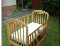 Cot with matress