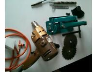 Black and Decker drill with attachments