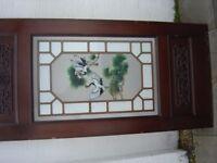 Oriental Leaded Glass Door