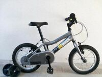 "FREE Bell with (2598) 14"" Aluminium RIDGEBACK Boys Girls Bike Bicycle+STABILISERS Age: 3-5, 95-110cm"