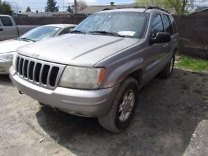2000 Jeep Grand Cherokee Limited V8 4.7L, 4X4 Low KM, Leather &