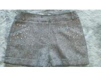 Girls sparkly shorts age 8/9