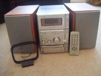 Sony Hi Fi Stereo - CD / Cassette tape / Radio - Model No. HCD - CPX1 - Remote Control - VGC - £30