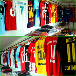 SOCCER JERSEYS! MESSI, RONALDO, POGBA, DYBALA...TOP QUALITY!