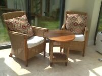 Conservatory rattan furniture