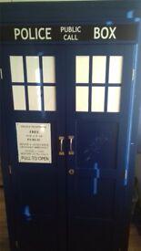 Dr Who Wooden Tardis Wardrobe