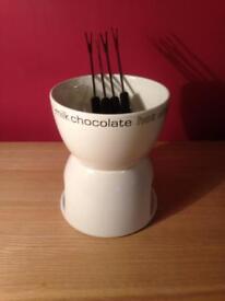 Chocolate Fondue Set with 4 fondue forks