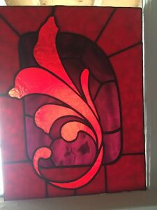 Custom stained glass panel