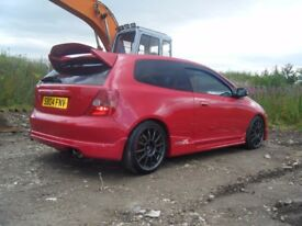 2004 HONDA CIVIC TYPE R 48K FSH 200 PLUS BHP BIG SPEC SMART CAR