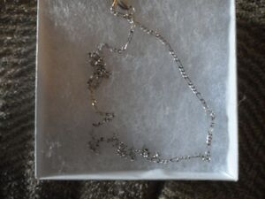 Sterling Silver, Figaro Chain - 20 inch New