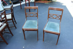 Two Antique Dining Table Chairs