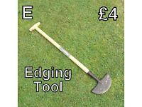 Gardening Tools (E) Edging Tool