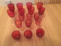 Victorian red wine and sherry glasses (17)