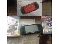 Psp street handheld console, games, accessories