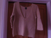 Ladies Calvin Klein knitted top size 10/12 nearly new