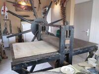Vintage Dutch etching press for sale