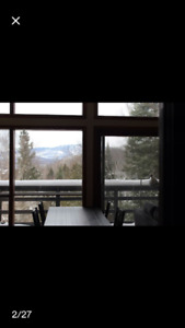 Chalet Condo vue féerique saison ski