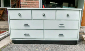 Solid wood vintage dresser in a retro style